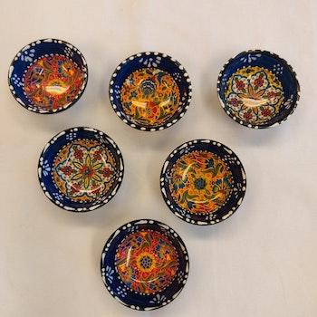 Keramik skål - Mörkblå 8 cm