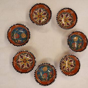 Keramik skål - Brun 8 cm