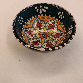 Keramik skål - Mörkgrön 8 cm