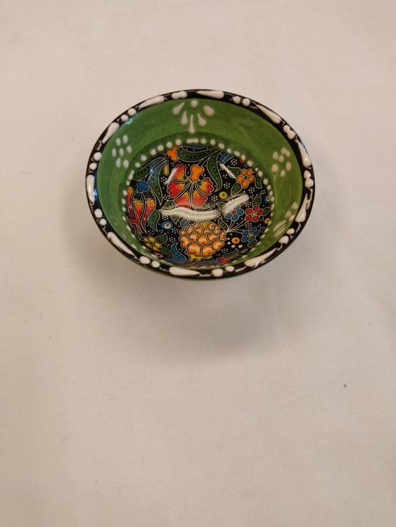Keramik skål - Ljusgrön 8 cm *FYND*