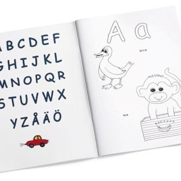 Målarbok ABC
