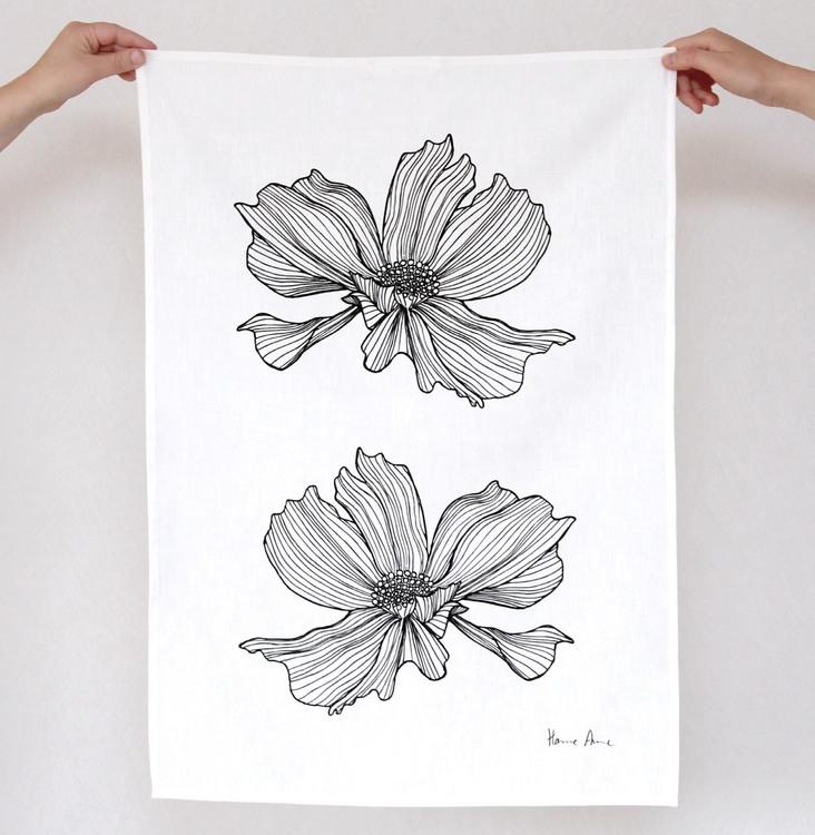 Kökshandduk Flying Flower