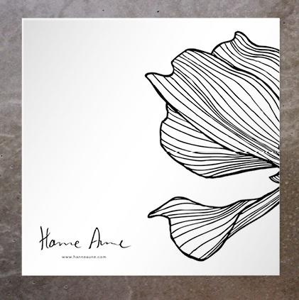 Kort Half Flower