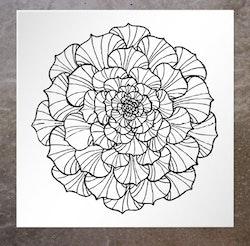 Kort Round Flower