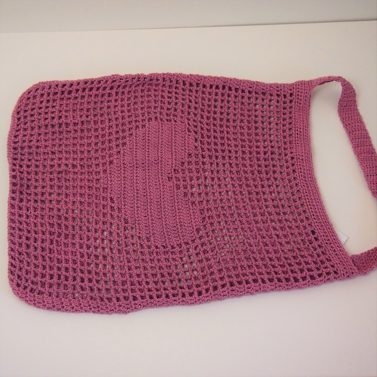 Rosa väska med hjärta