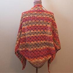 Stor färgglad och mjuk sjal