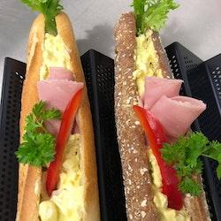Baguett Eggsalat m/skinke