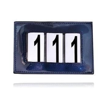 Tävlingsnummer blå