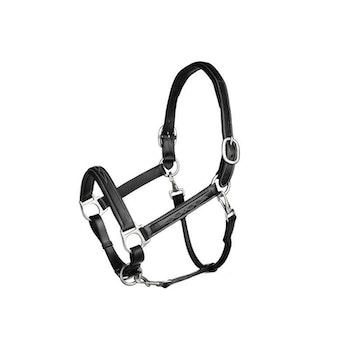 A-Equipment lädergrimma med mönstersöm svart