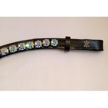Döbert Pannband färg crystal aurore boreale/ sten XL läder svart