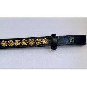 Döbert Pannband färg light tapaz/sten XL svart läder