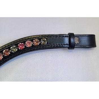 Döbert Pannband färg 4 olika läder svart full