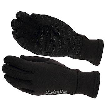 Equipage Fleece handske m silicon svart