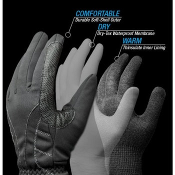 Lemieux Pro Touch Waterproof handskar fodrade svart