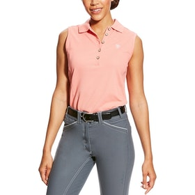 Ariat Prix sleeveless polo peach twig
