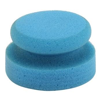 Rund svamp blå