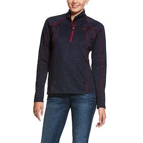 Ariat Conquest Zip Sweatshirt blå/röd