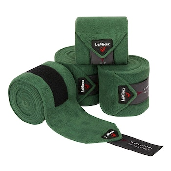 Lemieux Luxury Polo bandages hunter green full