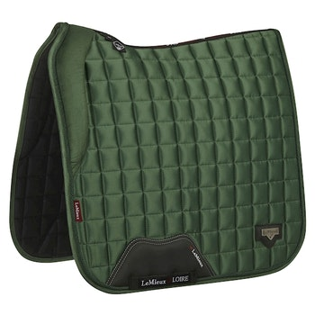 Lemieux Loire satin dressyr hunter green full.