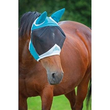 Shires flugmask med öron black/grey ej som på bild