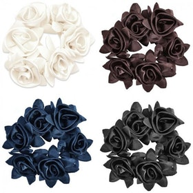 Diamond rose scrunchie
