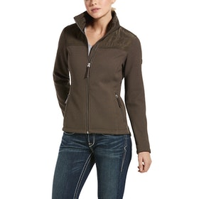 Ariat Kalispell Full Zip Sweater banyan bark tröja/jacka