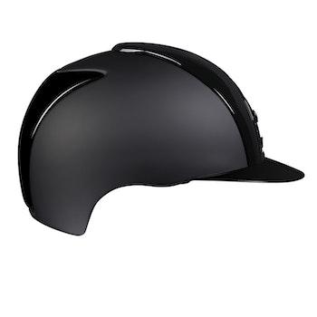 Kep Crome textile polish svart front svart galler med silver runt.