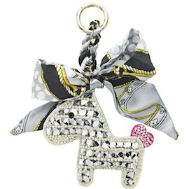 Someh Crystal horse keychain silver