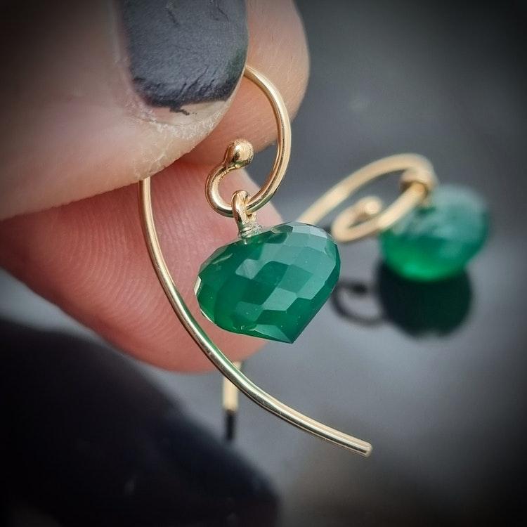 Söta smaragdgröna agater