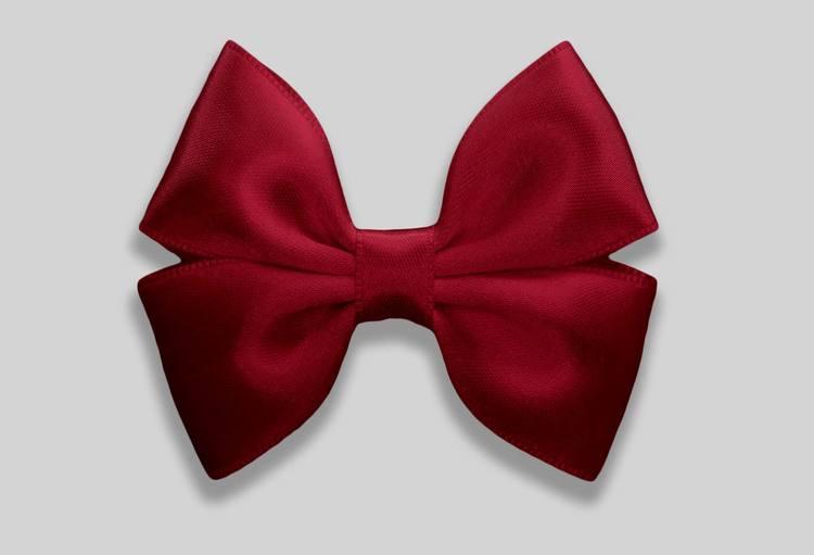 Liten julrosett julröd färg dubbelrosett från ellartosetten julkollektion