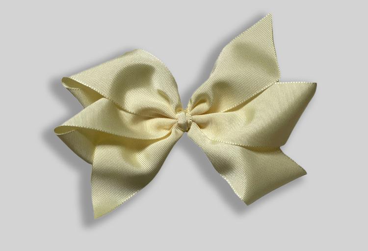 Hailey Reinholds rosett, ljusgul rosett, Hårrosett till baby, barn och vuxen, XL rosett.