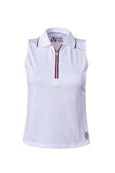 Vennvind teknisk poloskjorte for kvinner uten ermer, W011