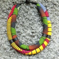 Halsband grovt dubbelt, gul/grön dominans