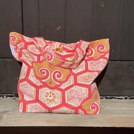 Kasse i afrikanskt tyg, rosa