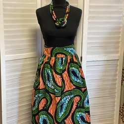 Rynkad kjol stort mönster