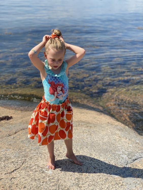 Färgglad kjol