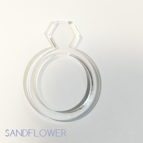 Ring av akryl - 17-20 mm - Diamant
