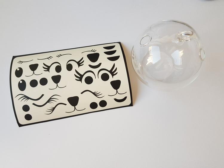 Vinyldekoration ögonfransar mm, för dekoration