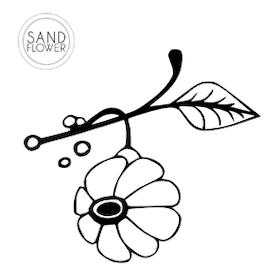 Textildekoration - Blomma på gren - 03