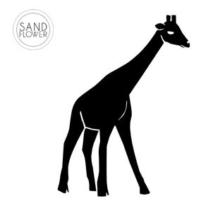 Textildekoration - Ståtlig giraff - 06