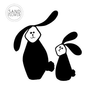 Textildekoration - Kanin - 08