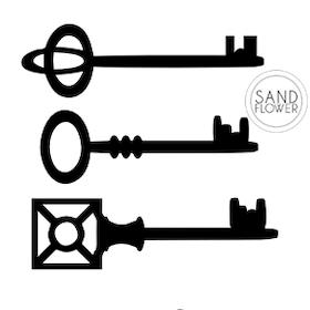 Textildekoration - Hemliga nycklar - 12