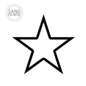Textildekoration - Stjärna kontur - 14