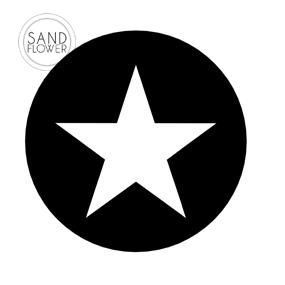Textildekoration - Stjärna i cirkel - 15