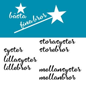 Textildekoration SVART - Flera varianter/STJÄRNA