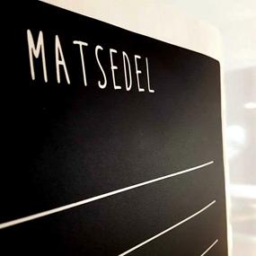 Griffelvinyl - Matsedel (vinyl som griffeltavla)