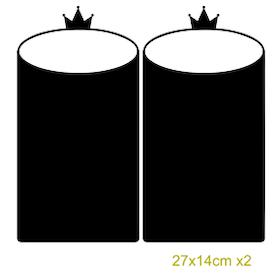 Griffelvinyl - krona (vinyl som griffeltavla)