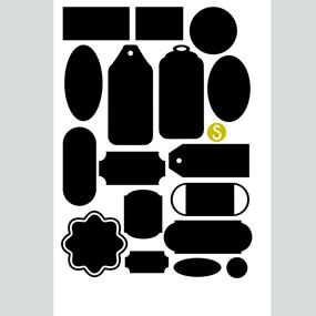 Griffelvinyl - 17 etiketter med yta som griffeltavla