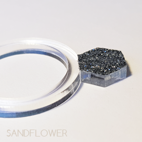 Ring av akryl - 21 mm - Diamant