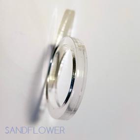 Ring av akryl - 16-21 mm - Cirkel #1